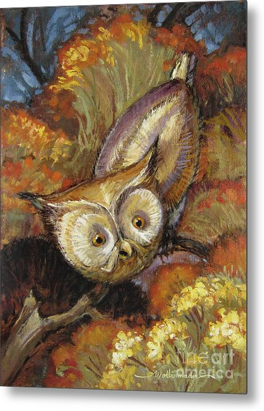 Autumn Owl Metal Print