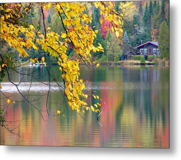 Metal Print featuring the photograph Autumn Reflection by Cristina Stefan