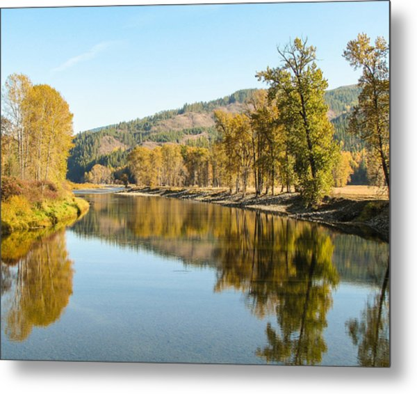 Autumn Reflections 2 Metal Print by Curtis Stein