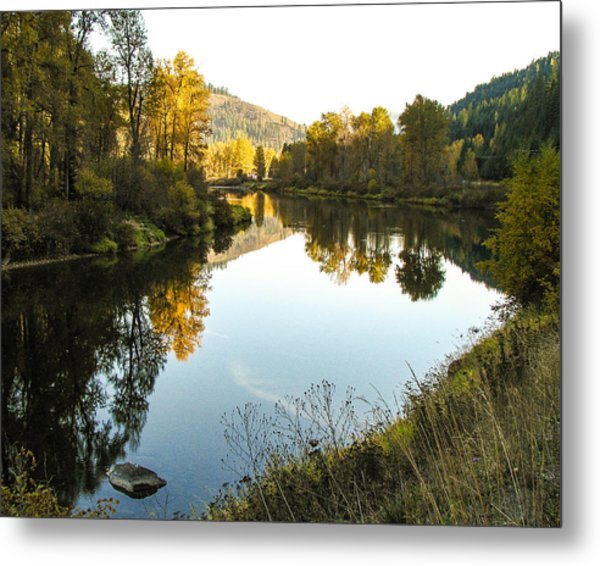 Autumn Reflections 4 Metal Print by Curtis Stein