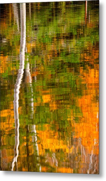 Metal Print featuring the photograph Autumn Reflections by Jeff Sinon