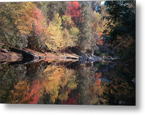 Autumn Reflections Metal Print by John Saunders