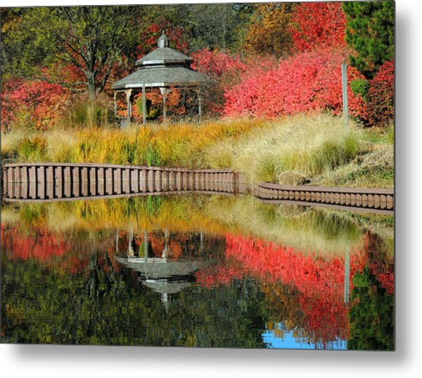 Autumn Reflections Metal Print by Teresa Schomig