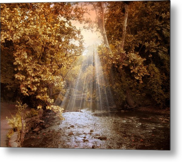 Metal Print featuring the photograph Autumn River Light by Jessica Jenney