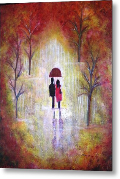 Autumn Romance Metal Print