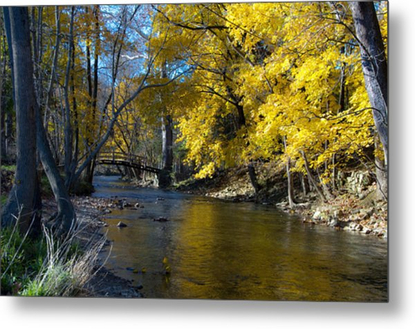 Autumn Scene At Valley Forge Metal Print
