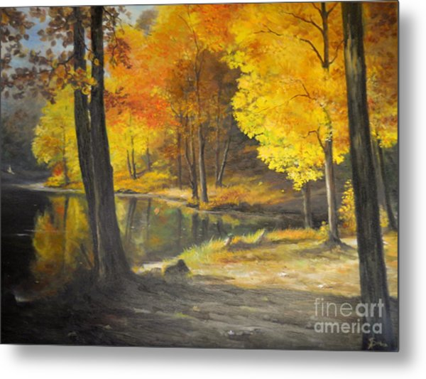 Autumn Silence  Metal Print