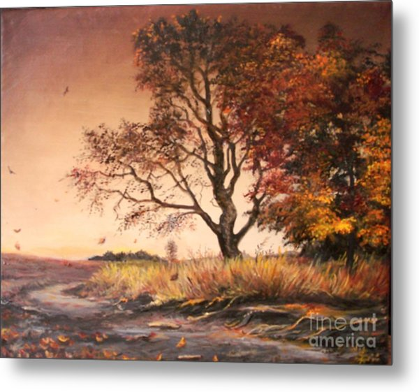 Autumn Simphony In France  Metal Print