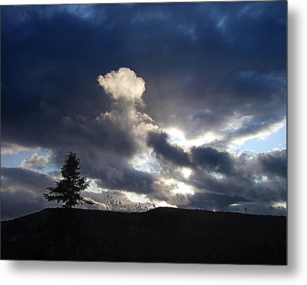Autumn Sky On Cape Smokey Metal Print