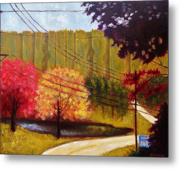 Autumn Slopes Metal Print