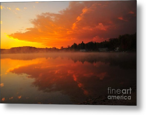 Autumn Sunrise At Stoneledge Lake Metal Print