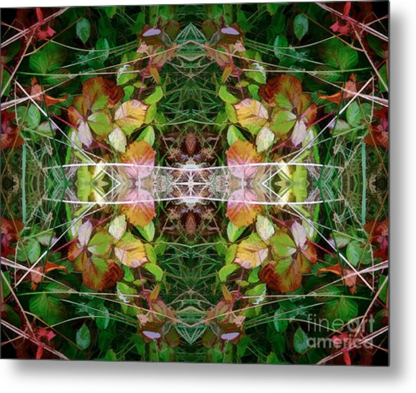 Autumn Symmetry Metal Print