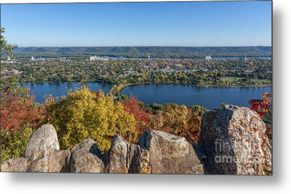 Metal Print featuring the photograph Autumn View From Garvin Heights by Kari Yearous