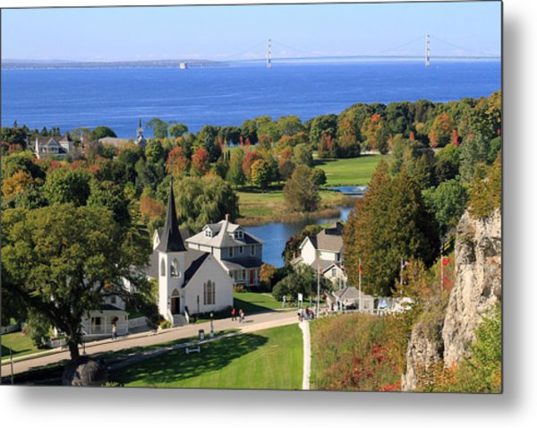 Autumn View On Mackinac Island Metal Print