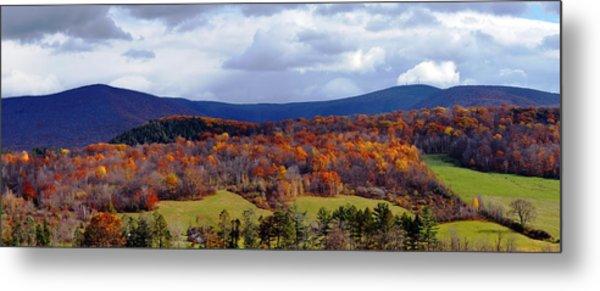 Autumn View Toward Mount Greylock Metal Print