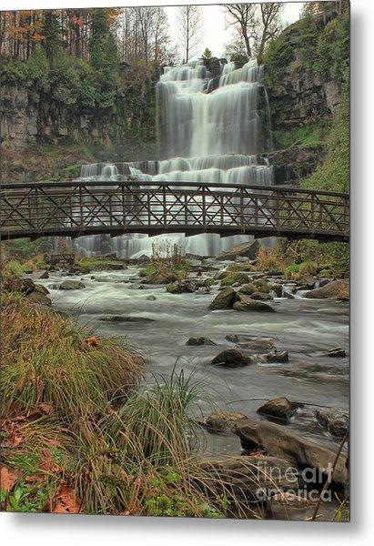 Autumn Waterfalls Metal Print