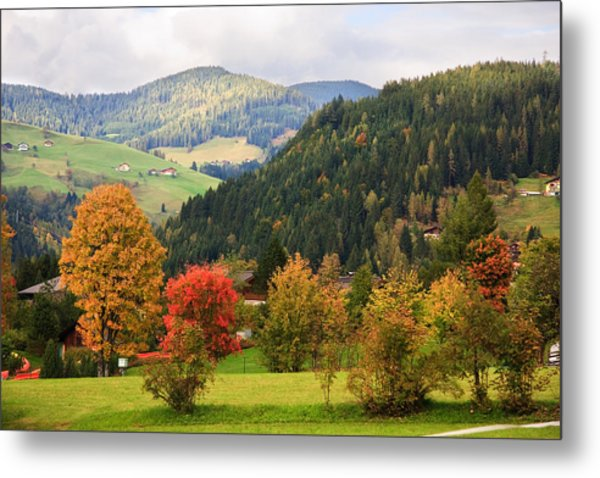 Autumnal Colours In Austria Metal Print