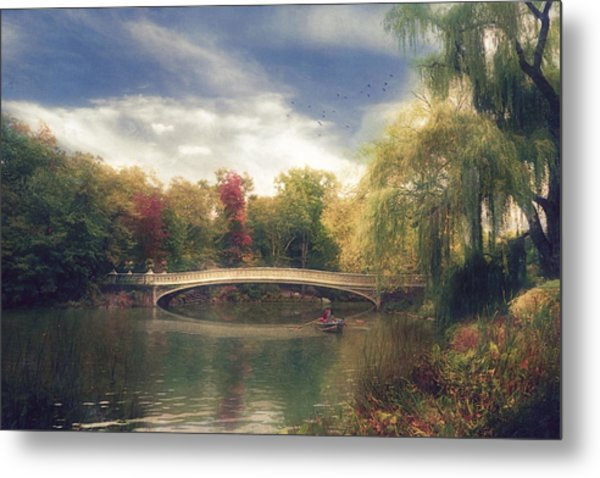 Autumn's Afternoon In Central Park Metal Print by John Rivera