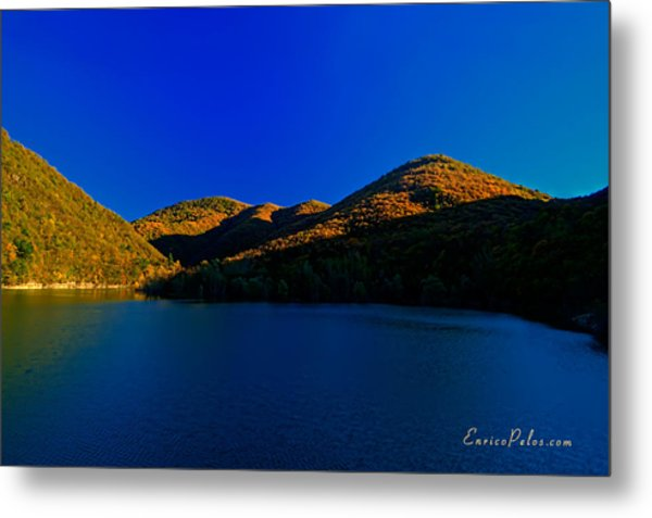 Autunno Tramonto Sul Lago - Autumn Lake Sunset Metal Print by Enrico Pelos