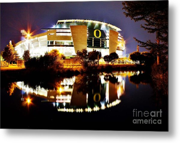 Autzen At Night Metal Print