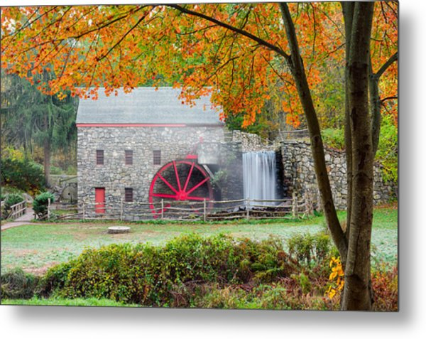 Auutmn At The Grist Mill Metal Print