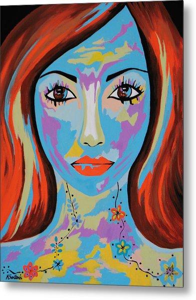 Avani - Contemporary Woman Art Metal Print