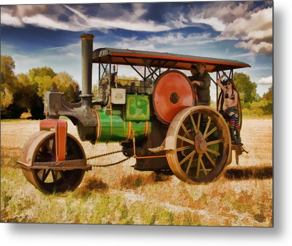 Metal Print featuring the photograph Aveling Porter Road Roller by Paul Gulliver