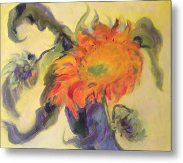 Avenging Sunflower Metal Print