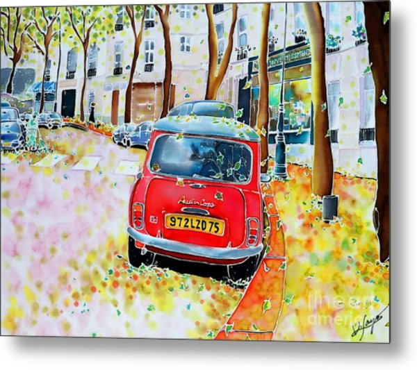 Avenue Junot In Autumn Metal Print