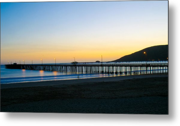 Avila Beach Pier Sunset Metal Print