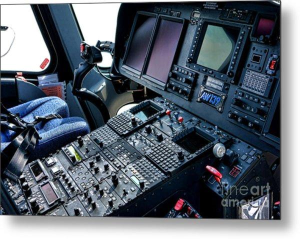 Aw139 Cockpit Metal Print