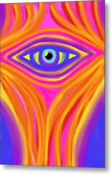 Awakening The Desert Eye Metal Print