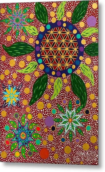 Ayahuasca Vision - The Opening Of The Heart Metal Print