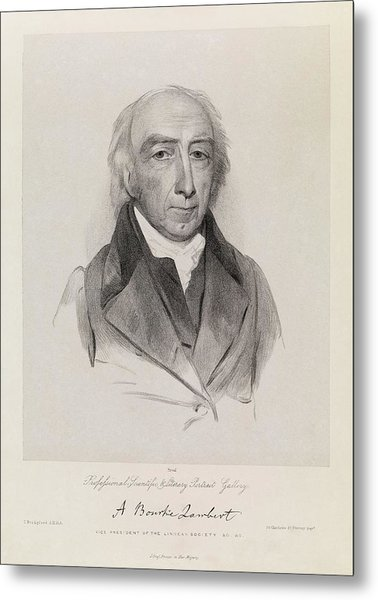 Aylmer Bourke Lambert Metal Print by Royal Institution Of Great Britain / Science Photo Library