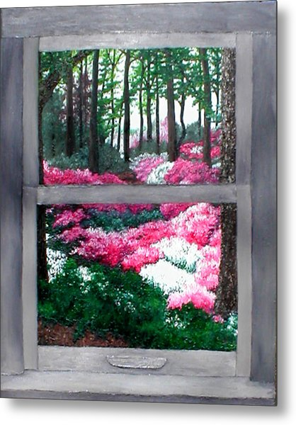 Azalea Bowl Overlook Gardens Metal Print by Beth Parrish