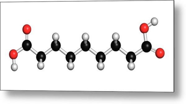 Azelaic Acid Nonanedioic Acid Molecule Metal Print by Molekuul