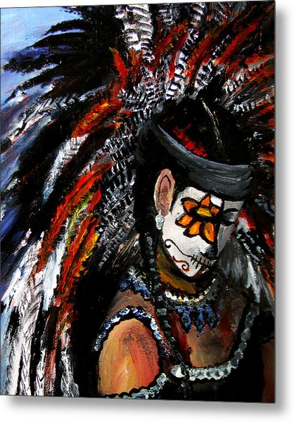 Aztec Celebration Metal Print