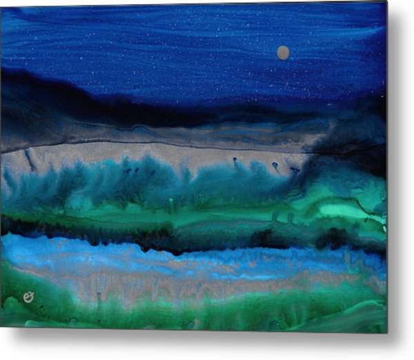 Azure Evening Metal Print