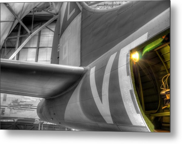B-17 Bomber Tail Metal Print