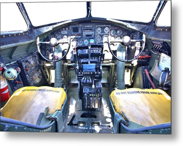B-17 Front Office Metal Print