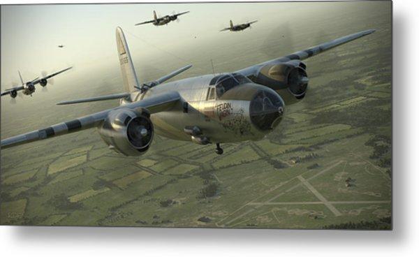 B-26 Feudin Wagin Metal Print