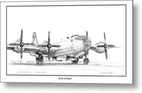 B-29 Metal Print