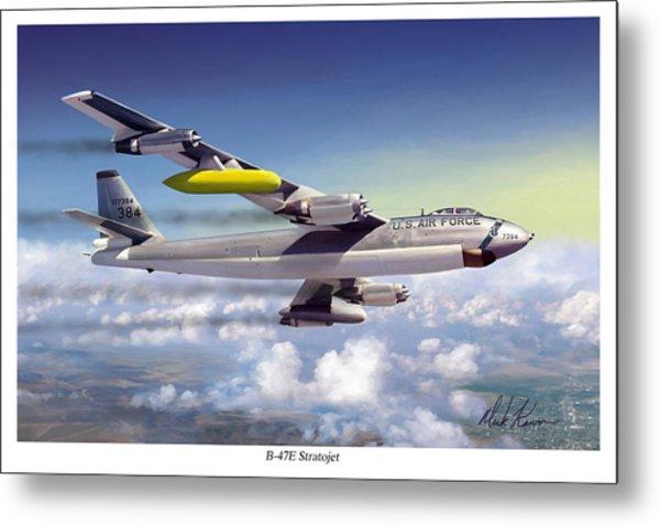 B-47e Stratojet Metal Print by Mark Karvon