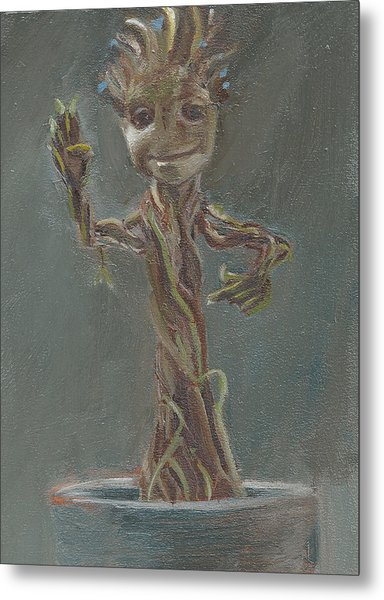 B And G Is For Baby Groot Metal Print