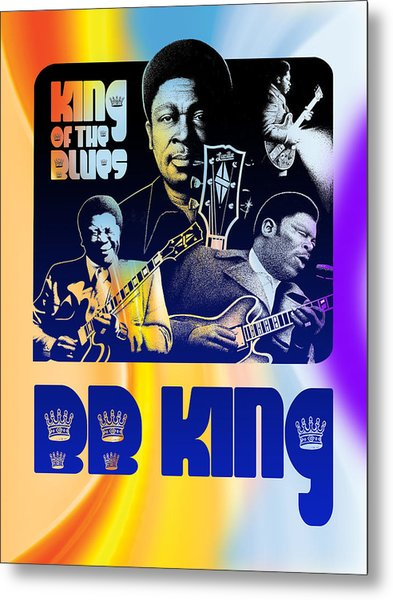 B. B. King Poster Art Metal Print by Robert Korhonen