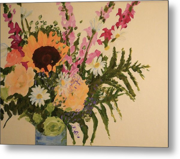 B-day Bouquet Metal Print by Valerie Lynch