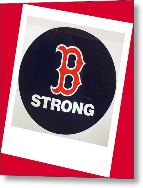 B Strong Red White And Blue Metal Print