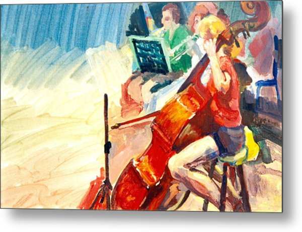 B03. The Cellist Metal Print