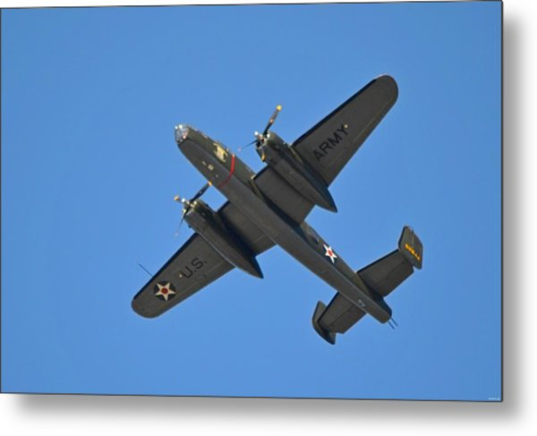 B25 Mitchell Wwii Bomber On 70th Anniversary Of Doolittle Raid Over Florida 21 April 2013 Metal Print