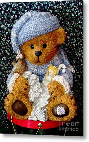 Baby Bear Ready For Christmas Metal Print